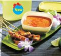จานเสิร์ฟพร้อมถ้วยซอส Satay Dish