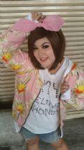 เสื้อคลุมกันหนาวแบบน่ารัก สีชมพู