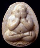 พระปิดตารุ่นแรก(นิยม)พ.ศ.๒๕๒๘ สมเด็จพระญาณสังวร วัดบวรนิเวศวิหารราชวรวิหาร กรุงเทพฯ  No.026