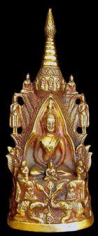 พระพุทธรูปปางป่าลิไลยก์มหาปาฏิหาริย์ เนื้อทองคำ