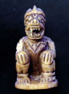 หนุมานงาแกะ หลวงพ่อสุ่น วัดเกาะศาลากุน นนทบุรี พิมพ์หน้าโขนนั่งจับเข่า No.189