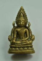 พระพุทธชินราช รุ่นอินโดจีน ปี 2485 เนื้อทองเหลือง พิมพ์สังฆาฏิยาว (โค๊ดอกเลานูน) วัดสุทัศน์เทพวราราม No.2198