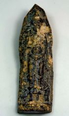 พระร่วง หลังลายผ้า พิมพ์ฐานสูง เนื้อชินตะกั่วสนิมแดง กรุวัดพระศรีรัตนมหาธาตุ จ.สุโขทัย No.2238