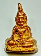 พระท่ากระดาน เนื้อชินตะกั่วเปียกนาก กรุเก่าศรีสวัสดิ์ จ.กาญจนบุรี No.2230