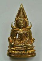 พระพุทธชินราช รุ่นอินโดจีน ปี 2485 เนื้อทองเหลือง พิมพ์แต่งสังฆาฏิยาว No.2247