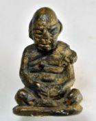 รูปหล่อโบราณรูปเหมือนหลวงปู่สุข ธัมมโชโต วัดโพธิ์ทรายทอง (พิมพ์นิยม) ปี 2500 จ.บุรีรัมย์ เนื้อสัมฤทธิ์ (ก้นอุดผง) No.2269