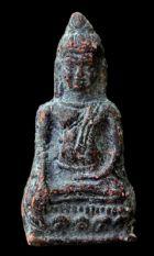 พระหูยานหน้ายักษ์ เนื้อตะกั่วสนิมแดง กรุวัดพระศรีรัตนมหาธาตุ ลพบุรี No.115