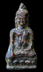 พระหูยานหน้ายักษ์ เนื้อตะกั่วสนิมแดง กรุวัดพระศรีรัตนมหาธาตุ ลพบุรี No.117