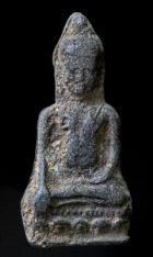 พระหูยานหน้ายักษ์ เนื้อชินเงิน กรุวัดพระศรีรัตนมหาธาตุ ลพบุรี No.118