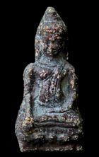 พระหูยานหน้ายักษ์ เนื้อตะกั่วสนิมแดง กรุวัดพระศรีรัตนมหาธาตุ ลพบุรี No.127
