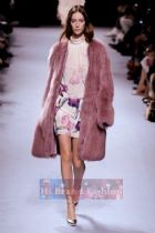 นิน่า ริชชี่ เดรสใส่ออกงานแขนยาว คอตั้ง ผ้าซาตินเนื้อลื่นสีชมพูพีชพิมพ์ลายดอกไม้ใหญ๋สีม่วงแดง ดูสวยสดใสย้อนวัยหวานได้เลยค่ะ 9676 Floral Printed Pink Dress พร้อมส่ง 4 ไซส์ค่ะ us6 8 10 และ 12