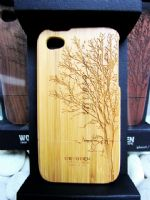 Bamboo Graphic Wooden Iphone4 Case