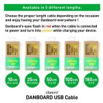 Cheero DANBOARD USB Cable With Lightning Connector (180 cm)