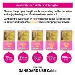 Cheero DANBOARD USB Cable With Lightning & Micro USB Connector (180 cm)