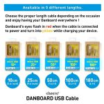 Cheero DANBOARD USB Cable With Micro USB Connector (50 cm)