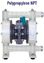 "SIZE 3/4"" PLASTIC AND METAL DOUBLE DIAPHRAGM PUMP"