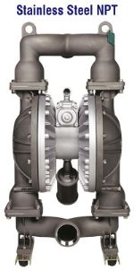"SIZE 3"" PLASTIC AND METAL DOUBLE DIAPHRAGM PUMP"