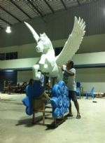 งานแกะโฟมม้า Pegasus