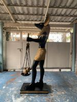 งานแกะโฟม Anubis เทพเจ้าแห่งความตาย
