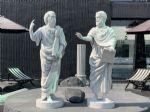 งานแกะโฟม Socrates' Plato' Aristotle
