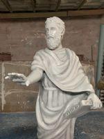 งานแกะโฟมหุ่นม็อคอัพ Plato กับ Aristotle