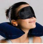 ชุดเซ็ทหมอนรองคอเป่าลม-ที่ปิดตา-ที่ปิดหู พกพาเดินทาง