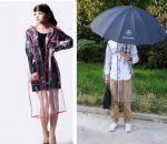 เสื้อกันฝนสีใส unisex โมเดิร์นจาก catwalk