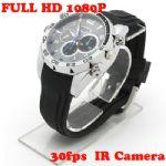 กล้องนาฬิการุ่นใหม่ FULL HD 1080P มีอินฟราเรดถ่ายในที่มืดได้ ถ่ายวีดีโอ ถ่ายภาพนิ่ง บันทึกเสียงได้ในตัวเดียวกัน ถ่ายภาพนิ่งได้ 12 ล้านพิกเซล พร้อมเมมโมรี่ 8 GB