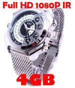กล้องนาฬิกาFull HD1080Pถ่ายวีดีโอในที่มืดได้ กันน้ำได้ ทำงานเมื่อมีเสียง