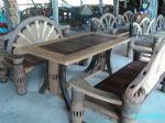 โต๊ะชุดพนักพิงหางนกยูง 1