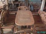โต๊ะชุดพนักพิงหางนกยูง 150 ซม
