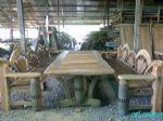 โต๊ะชุดพนักพิงหางนกยูงชุดใหญ่
