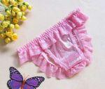 กางเกงในเปิดก้นผ้าลูกไม้ ด้านหน้าเป็นผ้ามีลายระยิบระยับ