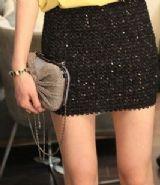 เสื้อผ้าแฟชั่นพร้อมส่ง : กระโปรง mni skirt เลื่อมแพรวพราว