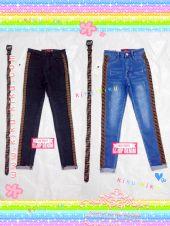 กางเกงยีนส์ ทรงสวยๆ แถบข้างงานแบรน มีเข็มขัดให้ด้วยนะคะ  เอว 34 36 38 40 42 นิ้ว