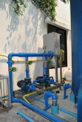 ติดตั้งระบบ ปั้มสูบน้ำขึ้นอาคาร Tranfer Pump
