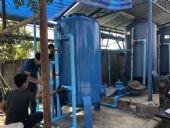 ติดตั้งถังกรองน้ำบาดาลขนาด 100X150 Cm.