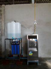 """ติดตั้งเครื่องกรองน้ำดื่มระบบ Reverse Osmosis  + พร้อมติดตั้งตู้น้ำเย็นขนาด 2 หัวก้อก """"MAXCOOL"""""""