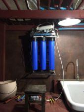 ติดตั้งเครื่องกรองน้ำดื่ม ระบบReverse Osmosis 150 gpd. บริการลูกค้าในร้านอาหาร