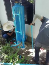 ติดตั้งถังกรองน้ำประปาหมู่บ้าน ขนาด 40 X 120 Cm.