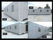 ห้องพักคนงาน 4 ห้องขนาด 2.5x12.0x2.5 เมตร