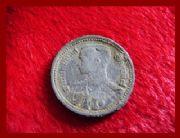 เหรียญดีบุก 25 สตางค์ ด้านหน้าพระบรมรูป ร.8 - ด้านหลังตราพระครุฑพ่าห์ ปีพ.ศ.๒๔๘๙ สภาพ 80%