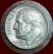 เหรียญกษาปณ์ United States 1 D 1980 สภาพ 100%  เหรียญโลก (หายาก)