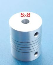 Flexible  Coupling 8 x 8 mm.(25x30 mm)