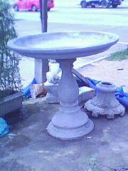 น้ำพุปูนปั้นถาดเรียบ 1.12 m.