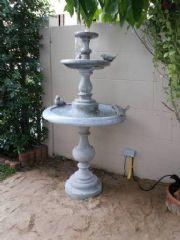 น้ำพุปูนปั้น3ชั้นถาดล่าง80 cm.