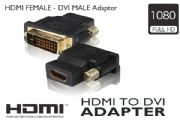 HDMI FEMALE - DVI MALE