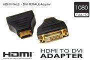 HDMI MALE - DVI FEMALE