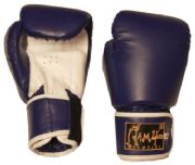 Boxing Gloves Blue-white PU. all size