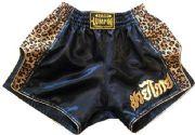 Retro short black with Cheetah cloth